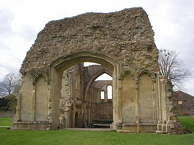 Abbey ruin, exterior and interior