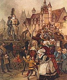 Execution of the last Templar Grand Master in 1314